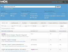 MOZ Open Site Explorer: Link Research & Backlink Checker