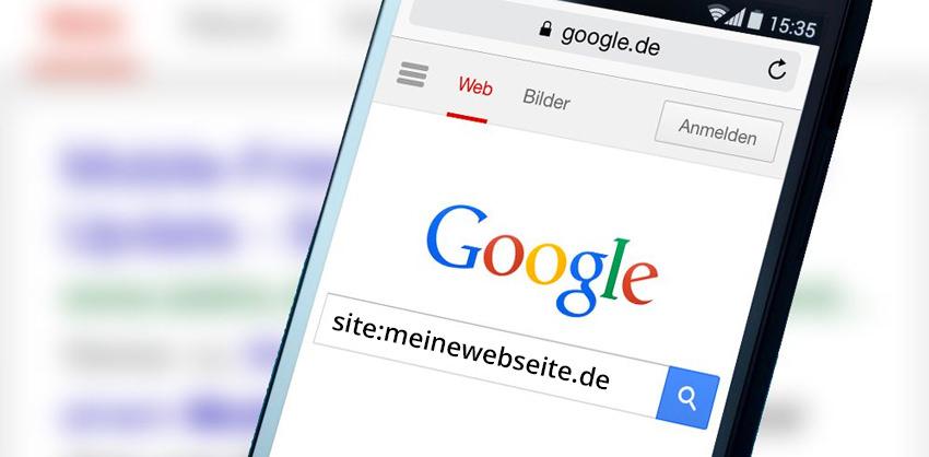 Google Site-Abfrage / Indexierte Seiten Abfragen