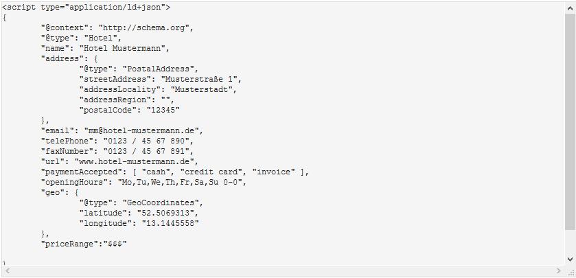 Microdata Generator (Beispiel)