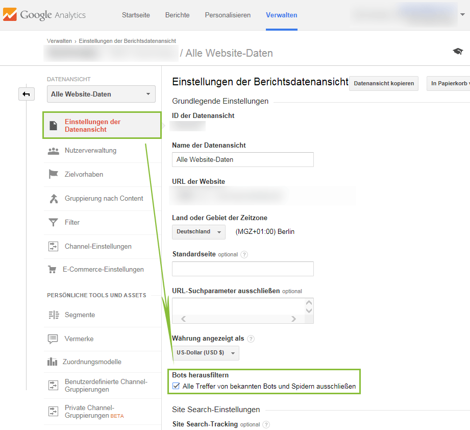 Referrer Spam Filter in Google Analytics