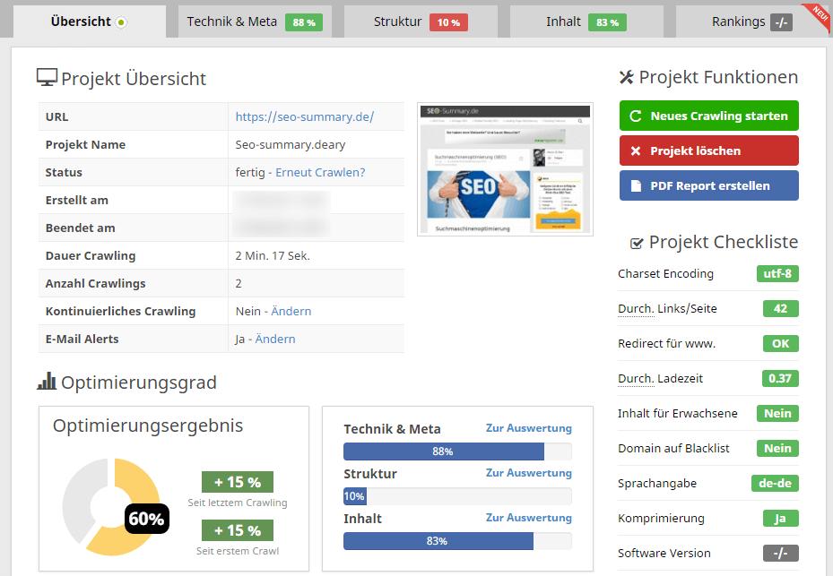 Seobility: SEO Tool zur OnPage Optimierung