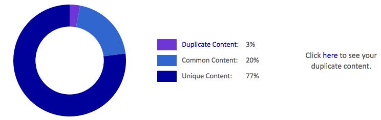 Siteliner Duplicate Content Analyse: Internen Duplicate Content finden